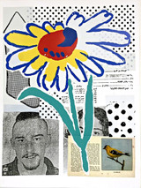 DONALD BAECHLER, The Benefit Flower, Screenprint and Collage  (Signed, Numbered)