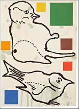 Donald Baechler, Birds 1995