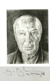 Hand signed card of portrait of the artist by Phong Bui, 2008