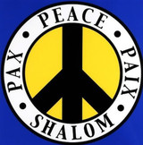 ROBERT INDIANA Shalom for Peace Project 2004, Serigraph in 4 colors on rives BFK paper, signed, dated & numbered - unframed
