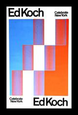 RICHARD ANUSZKIEWICZ Celebrate New York/Ed Koch, Ed Koch/Celebrate New York 1974, Silkscreen (hand signed, dated & inscribed) - unframed