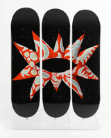 YAYOI KUSAMA Flowering Heart Limited Edition Skate Deck Triptych 2014,  Set of three Limited Edition numbered silkscreen on maplewood skate deck