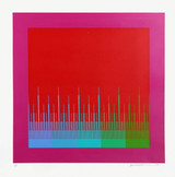 RICHARD ANUSZKIEWICZ, Soft Satellite Red 1981, Silkscreen, signed & numbered (framed)