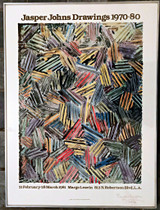 JASPER JOHNS Offset Lithograph  (Hand Signed by Jasper Johns & Inscribed to Michael Crichton's Brother) 1980