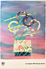 BILLY AL BENGSTON Los Angeles 1984 Olympic Games (Limited Edition, Pencil signed) with COA