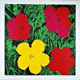 ANDY WARHOL Flowers 1970, Silkscreen poster on linen canvas backing. Unframed.