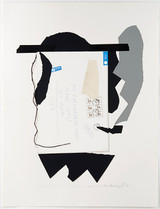 IVAN CHERMAYEFF, Hassidic Smoker 1982, Serigraph printed in twenty three colors on Arches paper. Signed. Numbered.