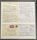 "NORMAN ROCKWELL ....""This should help you with the difficult Mr. Buckley"".....Hand written letter ca. 1965, Hand written and  signed letter on artist's personalized stationery with the accompanying  postmarked envelope."