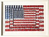 EMILIANO GIRONELLA PARRA Homenaje a Jasper Johns (Homage to Jasper Johns) 2003, Silkscreen. Signed. Numbered. Dated. Framed.