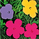 ANDY WARHOL Flowers (Galerie Sonnabend Invitation) 1970, Offset lithograph on smooth card