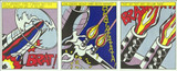 ROY LICHTENSTEIN As I Opened Fire (Triptych) (Corlett App.5) 1964, Set of three (3) Color Offset Lithographs on wove paper, Museum stamped verso. Unframed