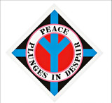 ROBERT INDIANA Peace Plunges in Despair 2004, Silkscreen on wove paper. Signed. Numbered. Unframed.