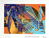 Mark di Suvero  Untitled Abstract Expressionist Print ca. 2010, Digital photo lithograph. Signed. Numbered. Unframed.