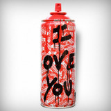 MR. BRAINWASH, Can I Love You ca. 2016, Artist's spray can - Rare Hand Signed, dated, numbered and thumb printed. edition