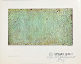 STANLEY BOXER Untitled Poster of Abstract Expressionist Painting Hand signed and Inscribed to the Director of the Andre Emmerich Gallery 1979.  Warmly Inscribed to former director of the famed Andre Emmerich Gallery. Unframed.