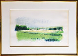 WOLF KAHN Curing Sheds 1980, Lithograph. Hand Signed. Numbered. Framed with Meredith Long Gallery label and corporate art collection label
