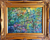 Thelma Appel,  June Day 2015, Oil on Canvas. Hand Signed. Dated. Framed.