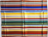 KENNETH NOLAND Limited Edition for the Whitney Museum 1999, Decorative Scarf in colors on 100% Silk in original Whitney Museum packaging with artist's printed name and copyright