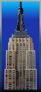 Richard Haas, Empire State Building 1997, Lithograph and silkscreen on Aluminum. Signed. Numbered unframed