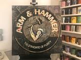Cey Adams Arm & Hammer 2018, Mixed Media & Acrylic Ink on Canvas