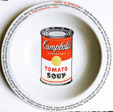 Mike Bidlo Not Warhol (Pappa Al Pomodoro - Il Toscanaccio - NYC) 2000, Limited Edition Ceramic Plate. Artist Signature Fired into Plate.