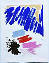 Friedel Dzubas Night Star 1984, Silkscreen. Signed and numbered. Unframed.