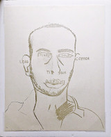 Francesco Clemente Traditional Self Portrait, from the Art Pro Choice II Portfolio 1991, Lithograph. Hand Signed. Numbered.