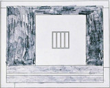 Peter Halley Prison 14 1995, Graphite pencil and ink on paper. Hand signed. Titled. Dated. Framed.
