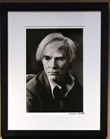 Michael Childers Portrait of Andy Warhol (Palm Springs Art Museum) 1967-1980, Gelatin Silver Print. Hand signed. Framed.