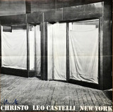 Christo, Leo Castelli Gallery New York (Hand Signed) and postmarked to art critic Pierre Restany in Paris 1966, Rare Offset Lithograph Poster. Addressed to influential art critic Pierre Restany and postmarked (franked) on the verso. Unframed.
