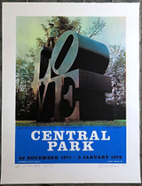 Robert Indiana LOVE Central Park 1971