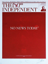 Damien Hirst,  NO NEWS TODAY*, 2008.  [Hand Signed by both Hirst and Bono]