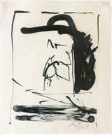 Robert Motherwell Apropos (B.20; E./B. 283) 1981, Lithograph on Kitikata handmade paper with full margins. Publisher's Blind Stamp. Hand Signed. Numbered. Framed.
