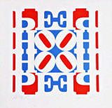 Robert Indiana HOPE Wall (Red, White, and Blue) for President Obama