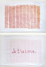 Louise Bourgeois Parents,  Red Room My Parents, detail, (Je T'Aime) 1994