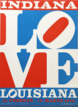 Robert Indiana, The American Love (Hand Signed and Inscribed to Richard Lugar,  distinguished US Senator) 1972