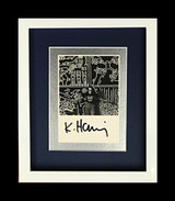 Keith Haring, Hand Signed Card (from the Estate of UACC President Cordelia Platt)