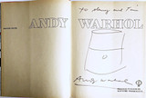 Andy Warhol, Original Soup Can Drawing, inscribed to Warhol pal and Rock & Roll hall of famer, ca. 1985