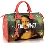 Jeff Koons, Hand Signed by Jeff Koons, Mona Lisa Leonardo da Vinci Bag for Louis Vuitton, 2017