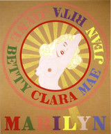 Robert Indiana, Sunburst Marilyn (Homage to Marilyn Monroe), 2001