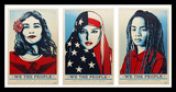 Shepard Fairey, We the People, Suite of Three (3) Separate Lithographs, 2017