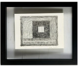Peter Halley, Prison 30 Drawing, 1995