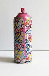 Hearts Spray Can (Pink), 2017 (Rare hand signed, dated and numbered edition) - unique variant