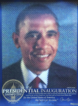 Chuck Close, The Presidential Inauguration (Hand Signed by Chuck Close and Plate Signed Barack Obama, 2013