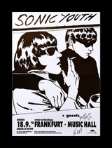 Raymond Pettibon and Kim Gordon, Sonic Youth at Frankfurt Music Hall (Hand Signed by both Raymond Pettibon and Kim Gordon)