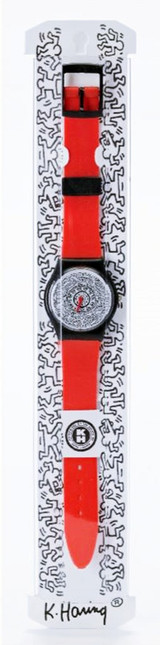Keith Haring, Running Time, Limited Edition Wrist Watch (Red), ca. 1992