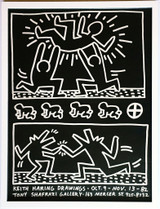 Keith Haring, Drawings at Tony Shafrazi Gallery, 1982