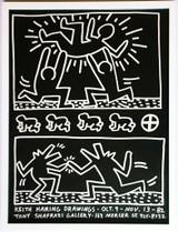 Keith Haring, Drawings at Tony Shafrazi Gallery, 1982