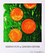 Donald Sultan, Serious Fun! at Lincoln Center (Hand Signed)