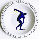 Mark Kostabi, Focaccia Alla Robiola - Da Ciro - New York, NY, 1998